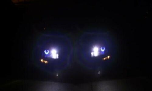1993-1997 Chevrolet Camaro White Angel Eye Head Lights HeadLights Lamps