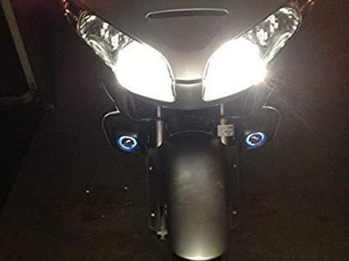 Blue LED Halo Fog Lamps Driving Lights for Honda GL 1800 GoldWing GL 1800