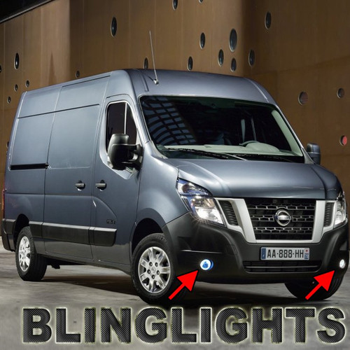 White LED Halo Fog Lamps Lights For Nissan NV Cargo Passenger Van NV1500 NV2500 NV3500 HD