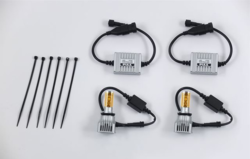 PIAA 2800K Gold 9006 9005 HB4 HB3 High Output LED Conversion Kit Twin Pack