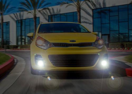 2016 2017 Kia Rio Sedan LED Fog Lamps Driving Lights Kit
