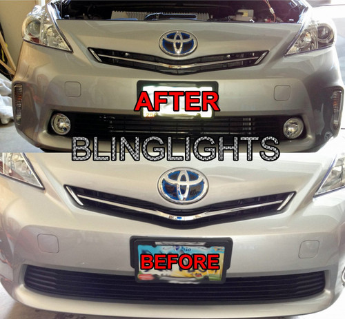 2012 2013 2014 Prius V Fog Lamp Driving Lights Kit Toyota Xenon