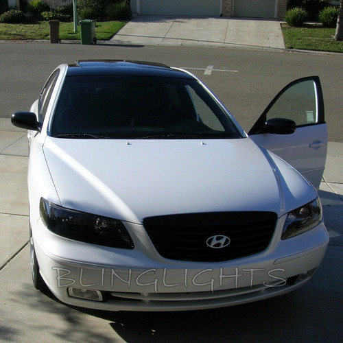 Hyundai Azera Tinted Smoked Head Lamps Lights Overlays Film Protection