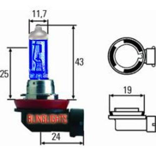H8 35 Watt Bright White Upgrade Replacement Light Bulbs for 35w Fog Lamps Lights Foglamps Foglights