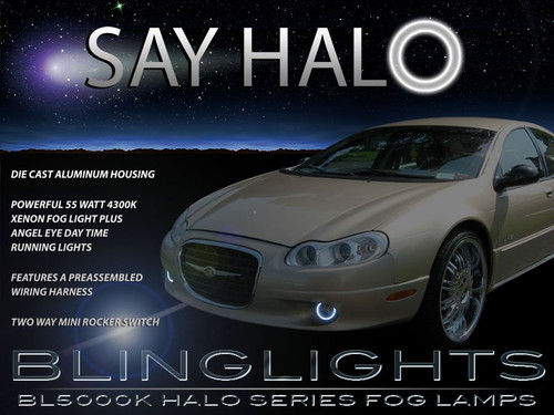1999 2000 2001 Chrysler LHS Halo Foglamps Angel Eye Foglights Driving Fog Lamps Eyes Lights Kit