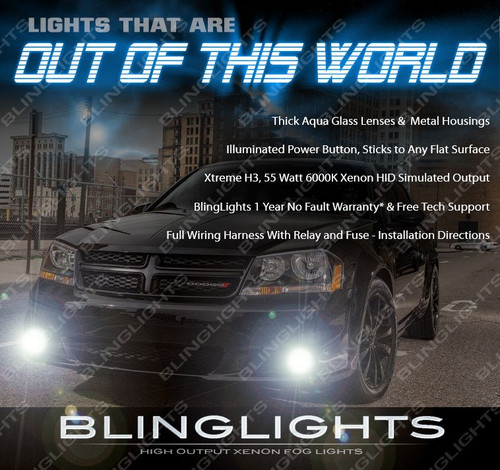 2011 2012 2013 2014 Dodge Avenger Fog Lamps Driving Lights Kit Xenon