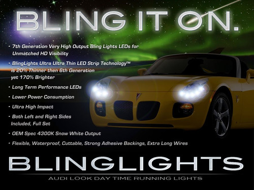 2006 2007 2008 2009 Pontiac Solstice LED DRL Strip Lights for Headlamps Headlights Head Lamps DRLs