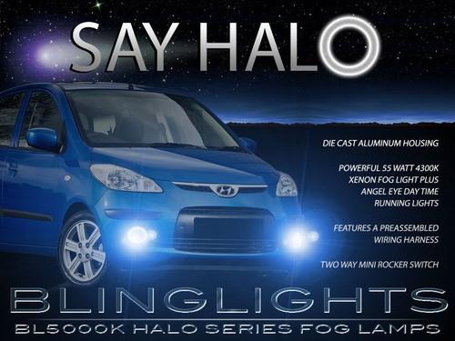 2008 2009 2010 Hyundai i10 Halo Angel Eye Foglamps Foglights Driving Fog Lamps Halos Eyes Lights Kit