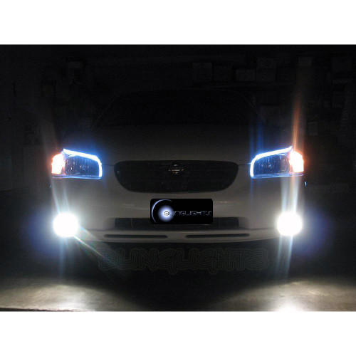 2000 2001 2002 2003 Nissan Maxima LED DRL Lights Strips Headlamps Headlights Day Time Running Lamps