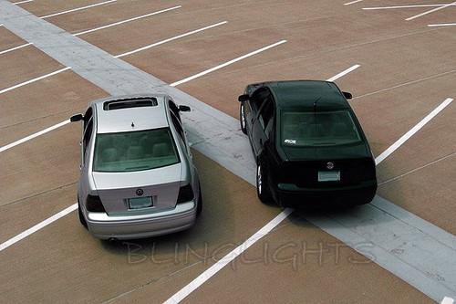 Volkswagen VW Jetta Mk4 Smoke Tint Tail Lamps Light Kit Overlays Film Protection