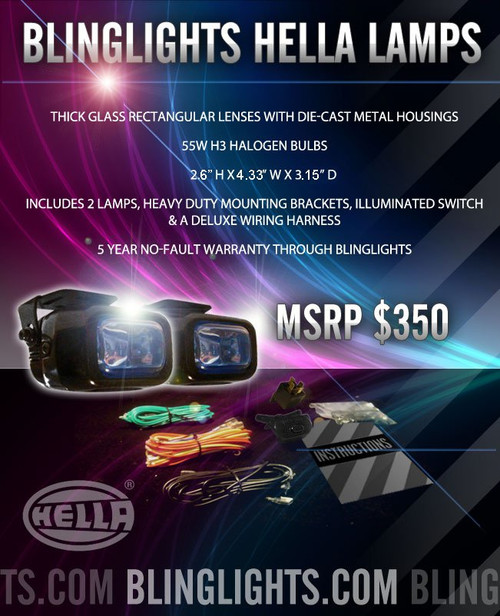 1998 1999 Nissan Sentra B14 Xenon Foglamps Foglights Driving Fog Lamps Lights Kit