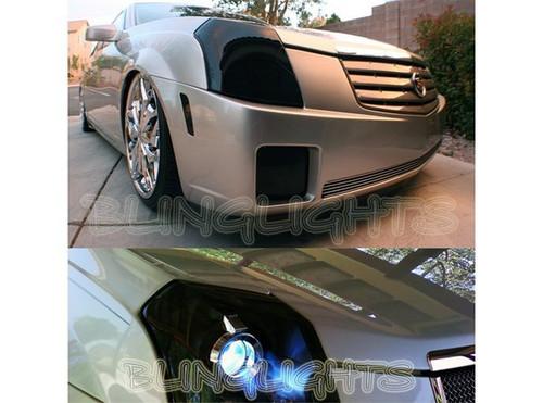 2004-2008 Acura TL Tinted Smoked Headlamps Headlights Overlays Film Protection