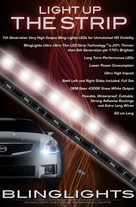 2004 2005 2006 Nissan Maxima LED DRL Light Strips Headlamps Headlights Day Time Running Lamps