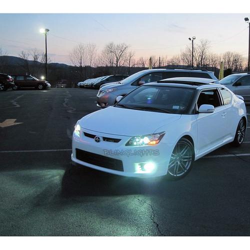 2011 2012 2013 Scion tC Blue LED Driving Lights Fog Lamps Kit