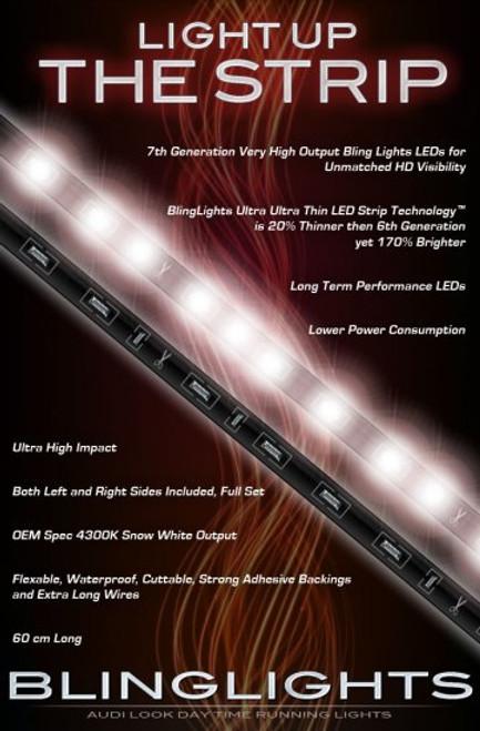 2002 2003 2004 2005 Ford Thunderbird LED DRL Light Strips Headlamp Headlight Day Time Running Lamps