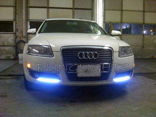 2005 2006 2007 2008 Audi A6 LED DRL Strips Day Time Running Lamps Strip Lights DRLs