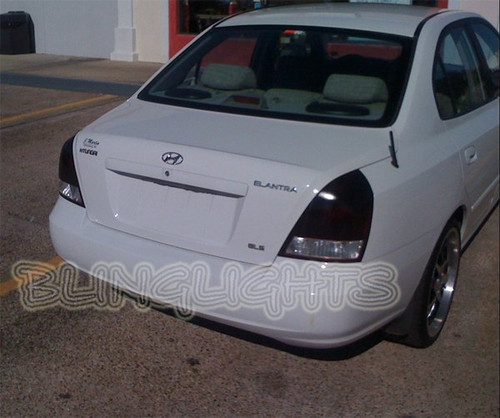 01-03 Hyundai Elantra GLS Tinted Smoked Tail Lamp Lights Overlays Film Protection