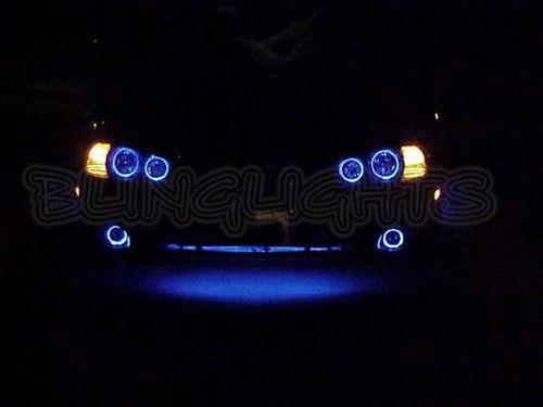 2001 2002 2003 Hyundai Elantra GLS White Halo Angel Eye Fog Lamps Lights Kit