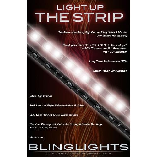 2003 2004 Infiniti M45 LED DRL Light Strips Headlamps Headlights Head Lamps Day Time Running Lights