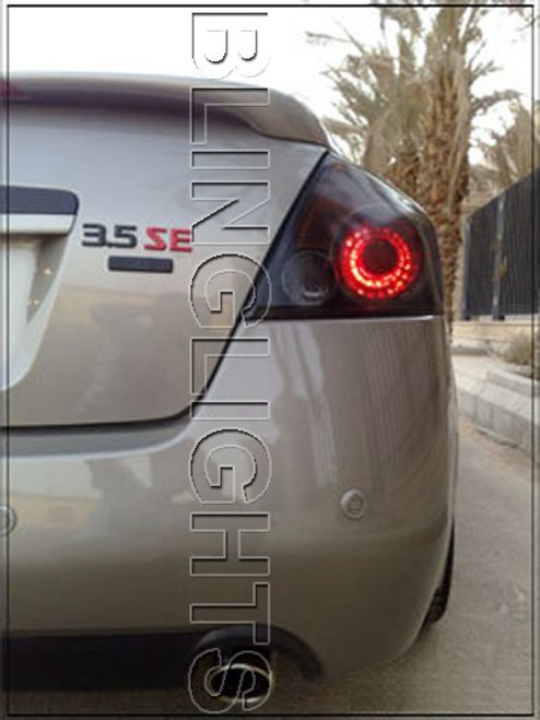 2008-2013 Nissan Altima Coupe Smoked Taillamp Overlays Taillight Film Covers