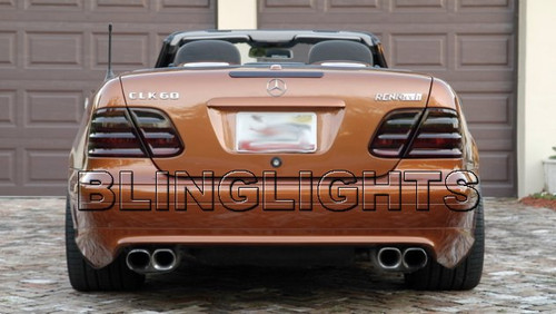 1994 1995 1996 1997 Mercedes-Benz C220 Smoked Taillamps Taillights Tail Lamps Tint Film Overlays