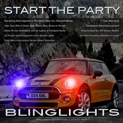 Mini Cooper Strobe Light Kit Headlamps Headlights Head Lamps R50 R52 R53 R55 R56 R57 R58 R59 R60 R61