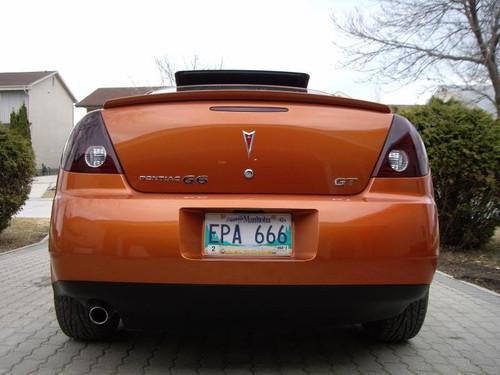 Pontiac G6 Tinted Tail Light Film Overlays Smoked Lamp Covers