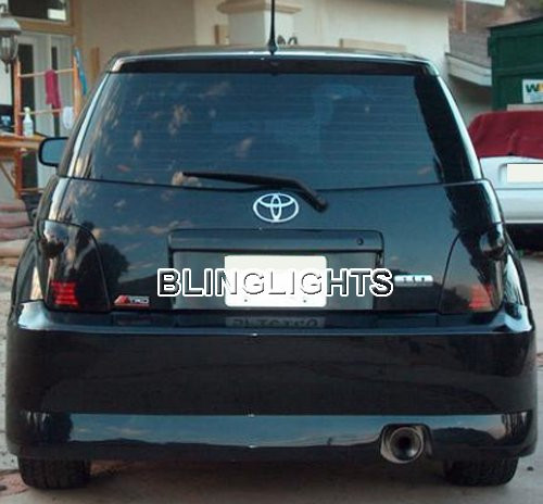 2004 2005 2006 Scion xA Tinted Smoked Protection Overlays for Taillamps Taillights Tail Lamps Lights