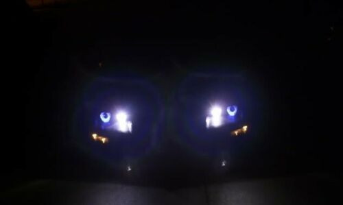 1993-1997 Chevrolet Camaro White Angel Eye Head Lights HeadLights Lamps
