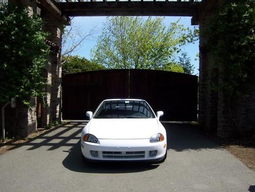 1992-1997 Honda Del Sol White Halo Fog Lamps Driving Lights Kit