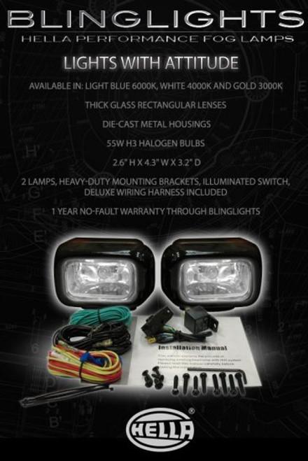 1998 1999 2000 Hyundai Elantra Xenon Fog Lamps Driving Lights Foglamps Foglights Drivinglights Kit