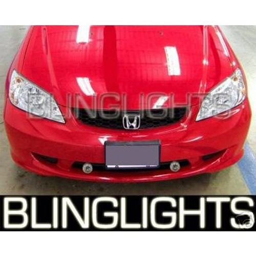 2001 2002 2003 2004 2005 Honda Civic Coupe Hatch Sedan Xenon Foglamps Fog Lamps Driving Lights Kit