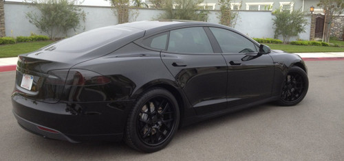 Tesla Model S Tinted Taillamp Overlays Taillight Film Covers
