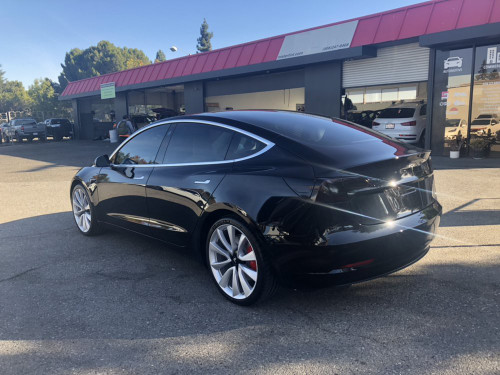 Tesla Model 3 Smoked Taillamp Protective Tinted Film Covers