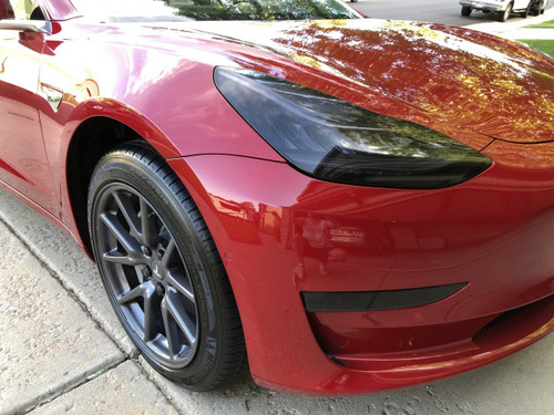 Tesla Model 3 Tinted Head Light Film Lens Overlays Smoked Lamp Covers