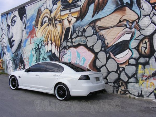 Pontiac G8 Tinted Smoked Taillamps Taillights Overlays Film Protection