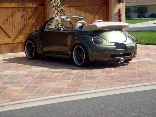 1998 1999 2000 2001 2002 2003 2004 2005 VW Beetle Tinted Smoked Taillamps Taillights Overlays