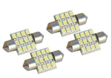 4x White Led Dome Light Bulbs De3175 De3021 De3022 3175 Festoon Dome Lamps 31mm 1 25