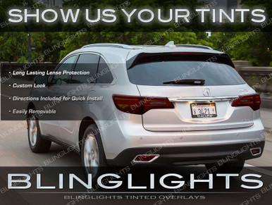 Acura Mdx Custom Tail Lamp Light Tint Overlay Kit Smoked