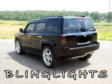 Jeep Patriot Tinted Smoked Taillamps Taillights Overlays