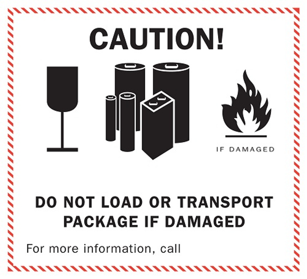 Lithium Battery Caution Labels