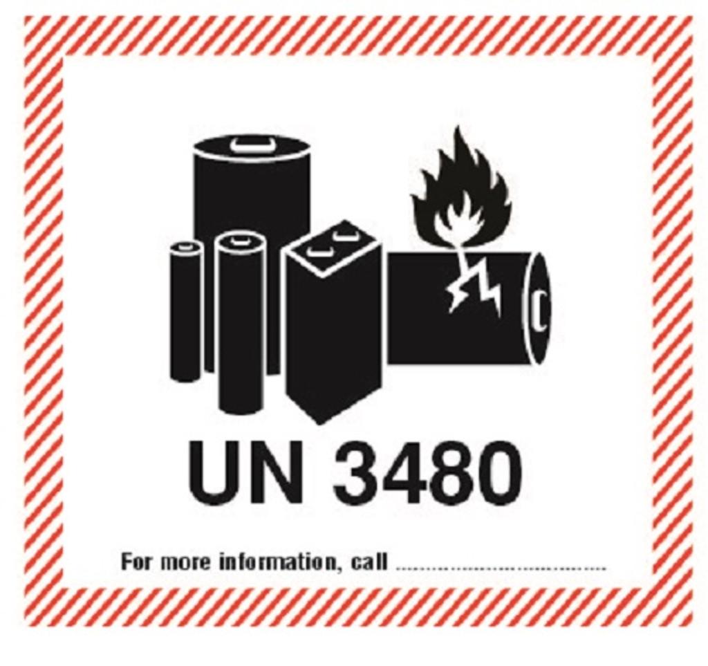 Lithium Ion Cells or Batteries UN 3480