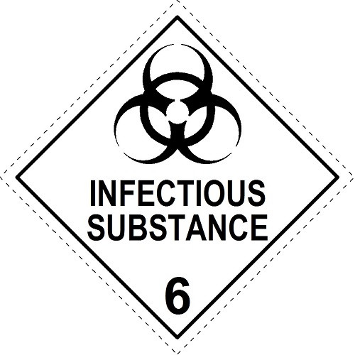 Infectious Substance 6 (Model No 6.2)