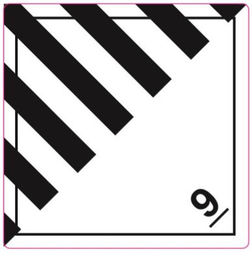 Dangerous goods 9 Labels without text