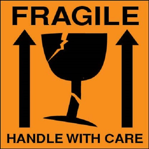 Fragile Handle With Care The Online Label Shop