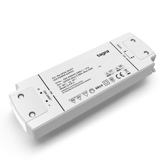 Tagra® Professional 24V TRIAC Dimmable Constant Voltage LED Driver 50W