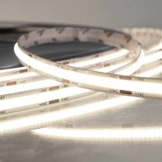 Pro Series Spot Free COB Continuous LED Tape, 24V, 11.2Wp/m 980LM, 90 CRI, Neutral White 4000K, 5M reel