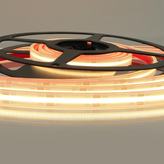 Pro Series IP67 Spot Free COB Continuous LED Tape, 24V, 11.2Wp/m 720LM, 90 CRI, Very Warm White 2700K, 5M reel
