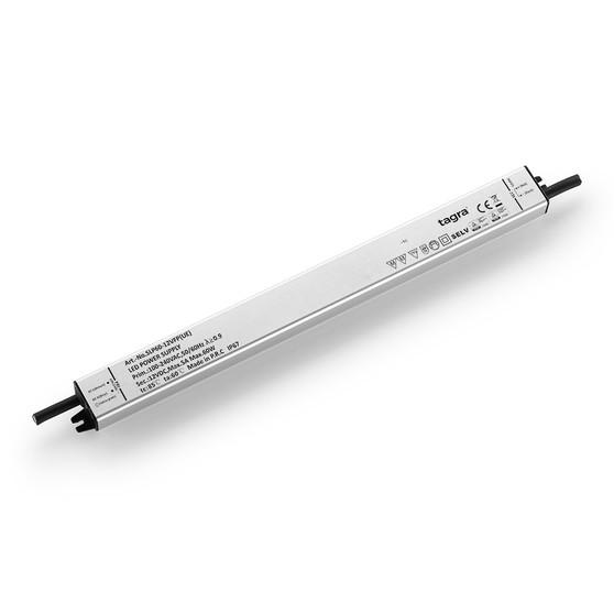 Tagra® Super Slimline Linear Professional 12V Constant Voltage LED Driver 60W, IP67