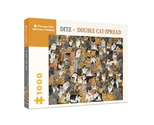 Ditz: Double Cat-spread - 1000pc Jigsaw Puzzle by Pomegranate